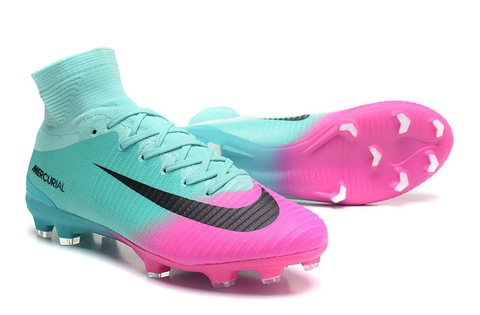 NIke Mercurial Superfly V FG Azul e Rosa New na internet