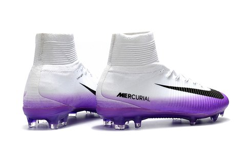 NIke Mercurial Superfly V FG purple branca na internet