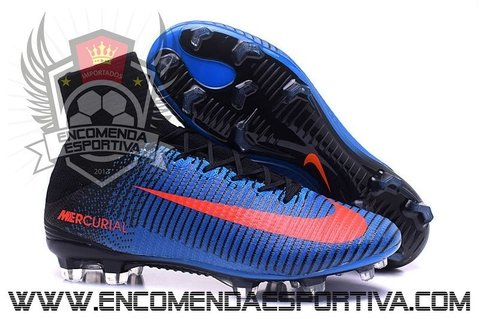 Nova Chuteira Mercurial Superfly V Blue FG