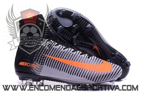 Nova Chuteira Mercurial Superfly V Grey/Black/ FG