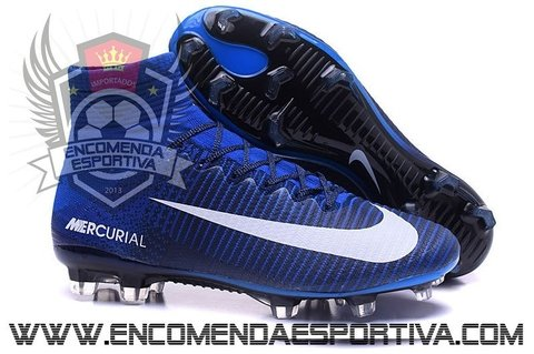Nova Chuteira Mercurial Superfly V Full Blue FG