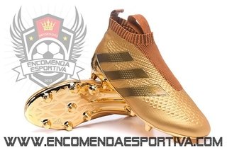 Chuteira Ace 16+ PureControl  Full Gold