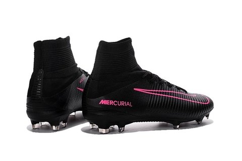Imagem do Nova Chuteira Mercurial  Superfly V Black/Pink FG