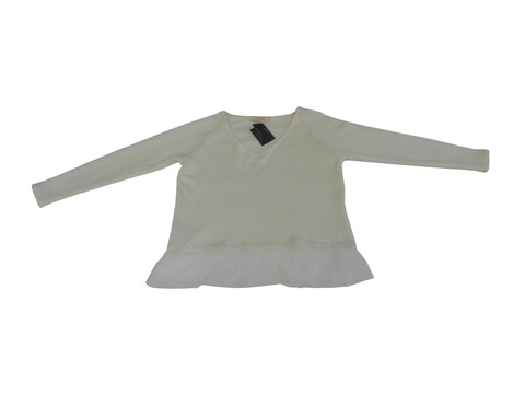 Maureene Dinar Moments Sweater with Chiffon