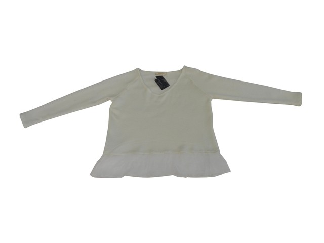 Maureene Dinar Moments Sweater with Chiffon - buy online
