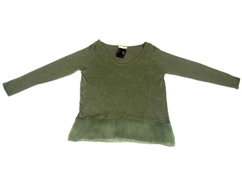 Maureene Dinar Moments Sweater with gauze