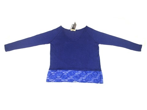 Maureene Dinar Moments Sweater with Lace