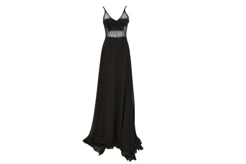 Maureene Dinar Long Dress black tulle on internet