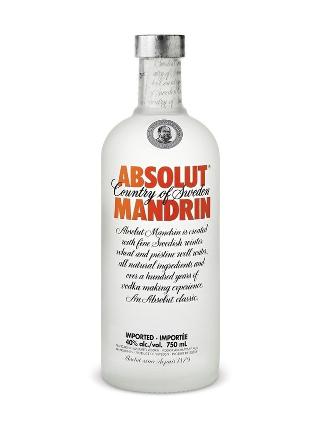 Absolut Mandarin x 750 cc Vodka