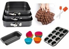 Set Kit Reposteria Torteras Desmontables Muffins Completo