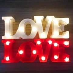 Love Luz Cartel Luminoso Led Luz 3d Color Dormitorio Letras