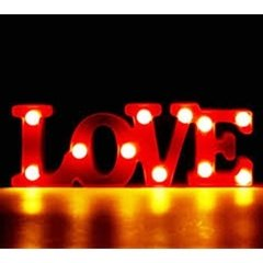 Love Luz Cartel Luminoso Led Luz 3d Color Dormitorio Letras - Levys Bazar