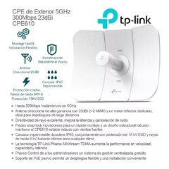 Antena Exterior Wifi 5 Ghz 300mbps TP LINK Cpe610 - comprar online