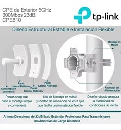 Antena Exterior Wifi 5 Ghz 300mbps TP LINK Cpe610 - tienda online