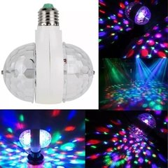 Lámpara Luz Led Doble Giratoria Rgb 3 Colores Rosca Comun 220v. en internet