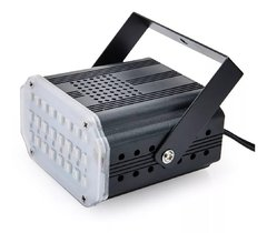 Flash Led Mini Audioritmico Blanco Dj Iluminacion Fiestas Eventos - comprar online