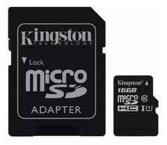 Memoria Micro Sd Hc 16 Gb KINGSTON Clase 10 - comprar online