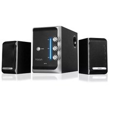 Parlante Pc Home Theater 2.1 NOGA S2176 Madera 50w Tv Dvd Celulares
