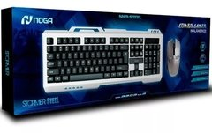 Combo Teclado y Mouse 1600dpi Gamer Inalambrico NOGA Nkb Steel - SHOPPING GAME