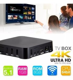 Tv Box Android Convertidor Smart Tv 8gb 4k - comprar online