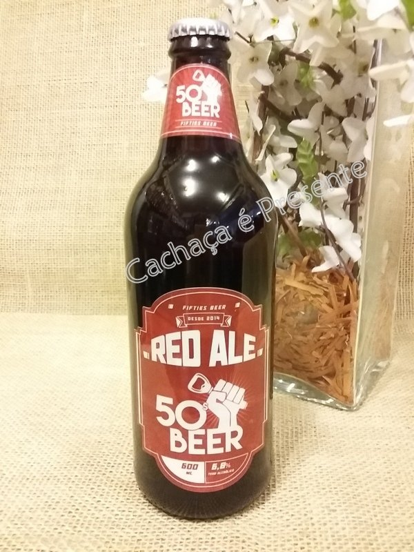 CERVEJA FIFTIES BEER RED ALE 600ML - 01173