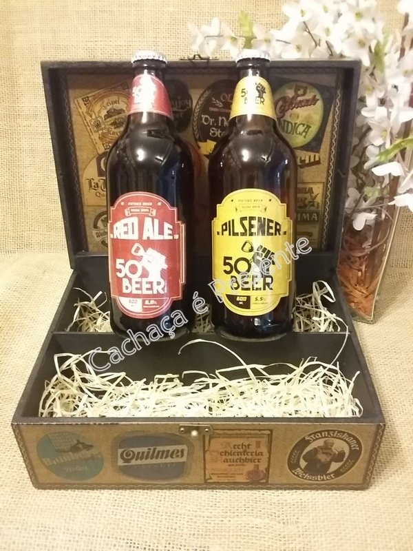 KIT CAIXA 2 CERVEJAS FIFTIES BEER PILSENER/RED ALE - K1131PR na internet