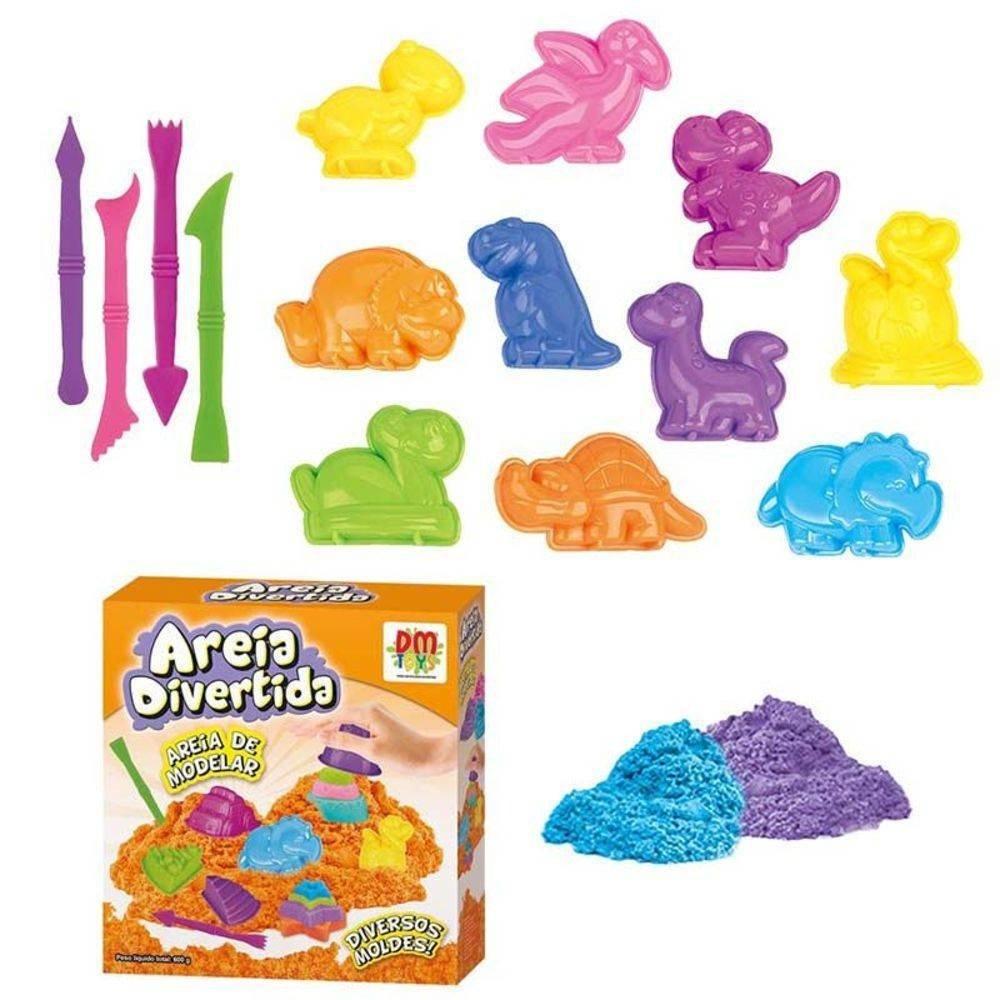 792fc2979f Areia de Modelar Areia Divertida Bichos - DM Toys