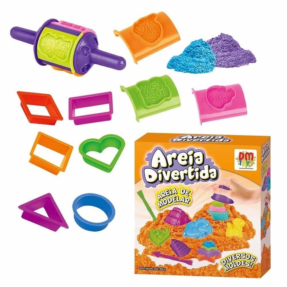 354eee9c28 Areia de Modelar Areia Divertida Formas - DM Toys