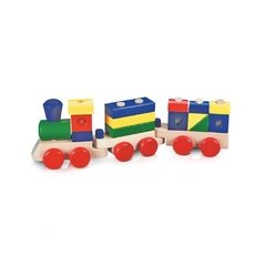 Trem Multiformas de Madeira Stacking Train - Melissa and Doug - loja online