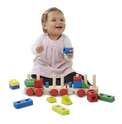 Trem Multiformas de Madeira Stacking Train - Melissa and Doug - comprar online