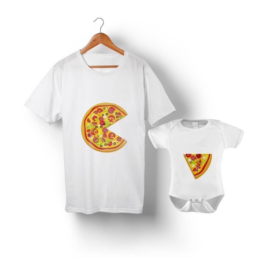 01bfafc831d0 Kit Tal Pai Tal Filho Pizza Camiseta e Body ou Camiseta Infantil