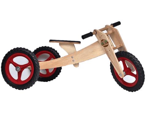 Bicicleta de Madeira Woodbike Camará Movelaria - Cor Vermelha
