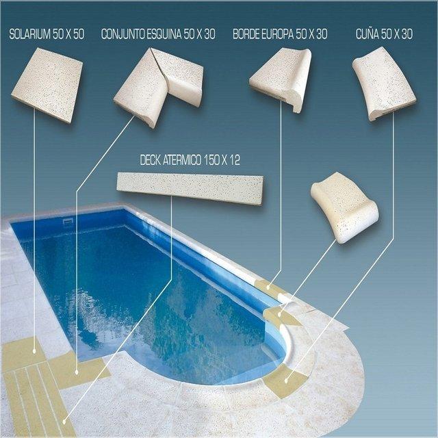 Bordes atermicos para piscinas zumaac for Bordes decorativos para piscinas