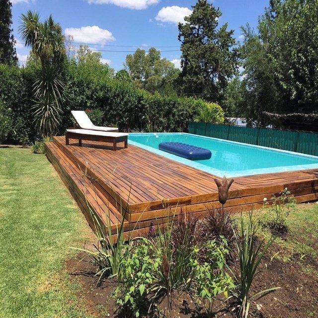 Decks para piscinas zumaac for Apartamentos en mazagon con piscina