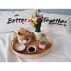 Fundas Almohada Blanco Better Together Negro - OUTLET - Langosta