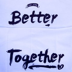 Fundas Almohada Blanco Better Together Negro - OUTLET en internet