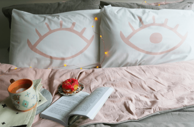 Fundas Almohada Eyes Rosa en internet