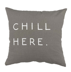 Almohadon Gris Chill Here Blanco