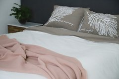 Fundas de Almohada Gris Good Morning - Good Night Blanco - Langosta