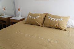 Funda Edredón King Stay in Bed - Avellana