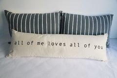 Pack x 3 Almohadones: all of me - rayitas gris
