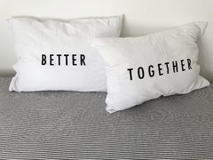 Fundas de Almohada Blanco Better Together Negro en internet
