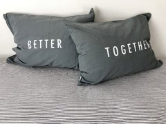 Fundas Almohada Better Together Gris en internet