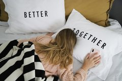 Fundas de Almohada Blanco Better Together Negro - tienda online