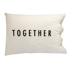 Fundas de Almohada Blanco Better Together Negro - comprar online