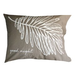 Fundas Almohada Good Morning - Good Night Gris - comprar online