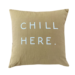 Almohadon Avellana Chill Here Blanco Outlet