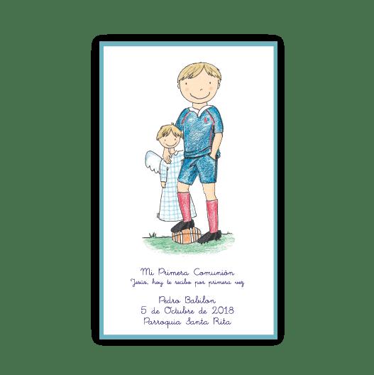 Estampitas Lápiz Rugby Marco x 24 - Lo de María