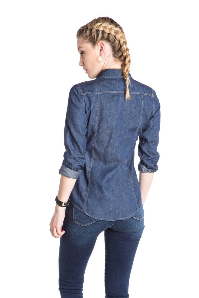 Camisa Lady de Jean Denim Perry - KOUT