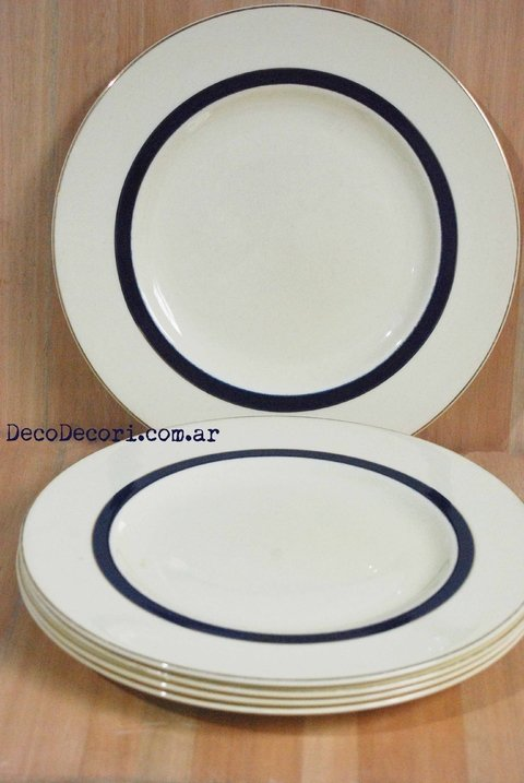 Platos playos Woods Ivory Ware set x 5 unid